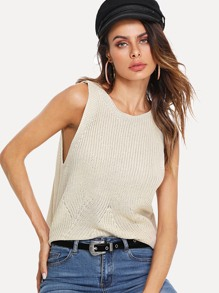 Low Side Knit Top