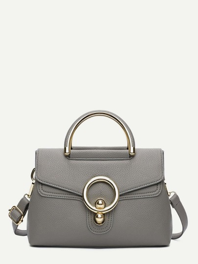 Metal Ring Detail Shoulder Bag