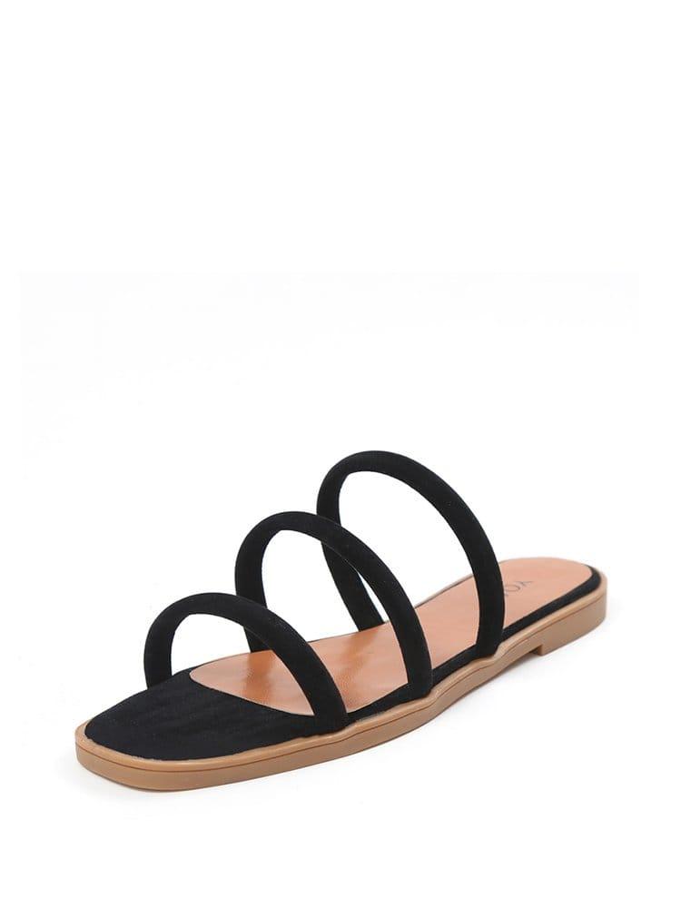 Strappy Peep Toe Sandals black peep toe jewelled detail sandals