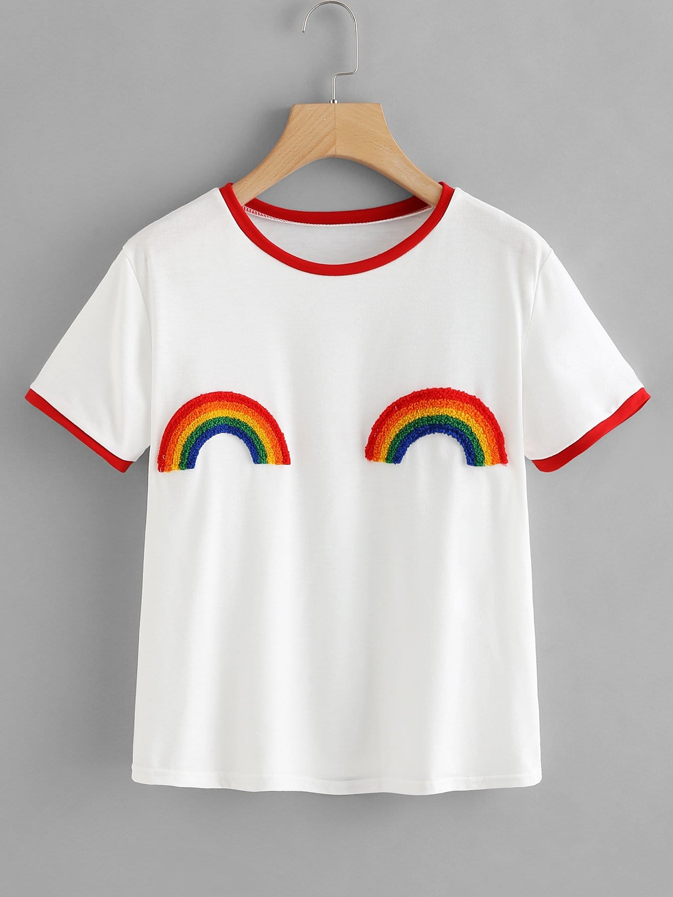 Rainbow Patched Ringer Tee цены