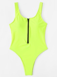Zipper Front Swimsuit