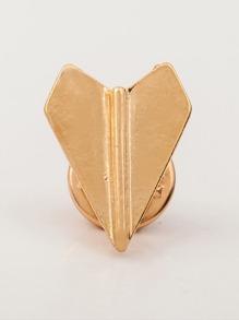 Paper Plane Design Collar Pin