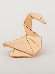 Paper Crane Design Collar Pin