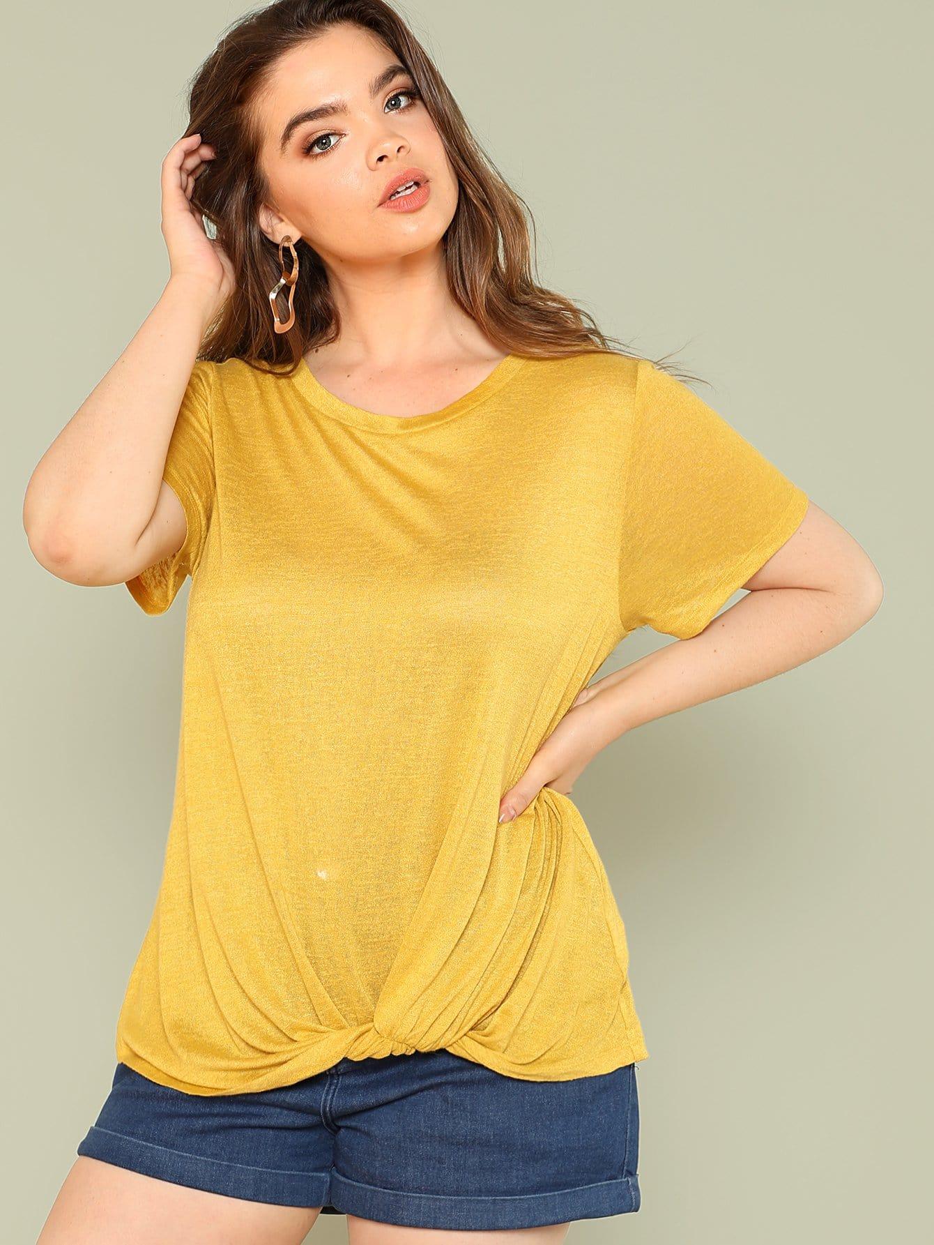 Twist Hem Short Sleeve T-shirt