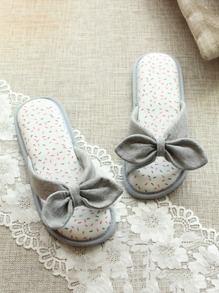 Bow Detail Flat Slippers