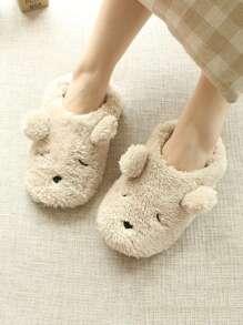 Fluffy Bear Slippers
