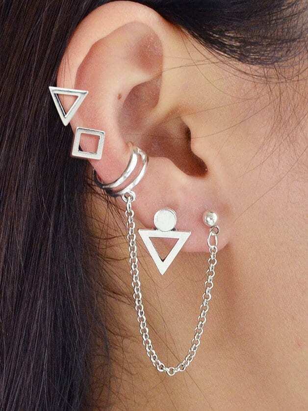 Geometric Chain Earr...