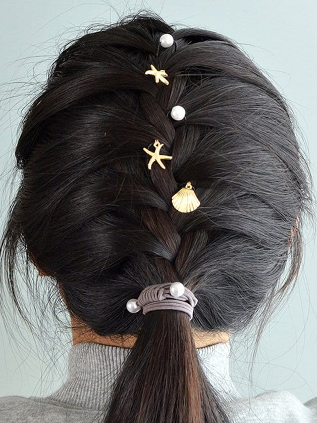Shell Pearl Hairpin