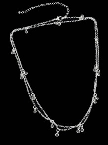 Silver Long Sweater Chain