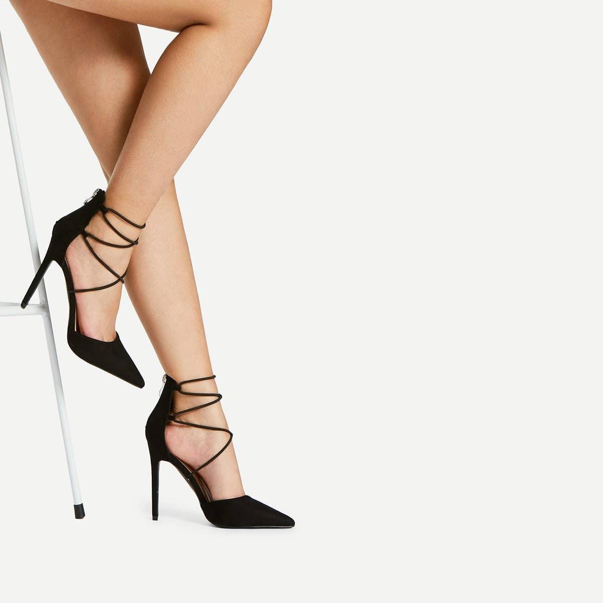 Criss Cross Strappy Heels