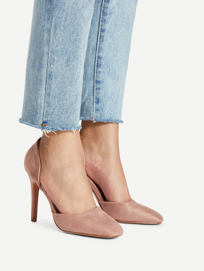 Pointed Toe Slip On Heels