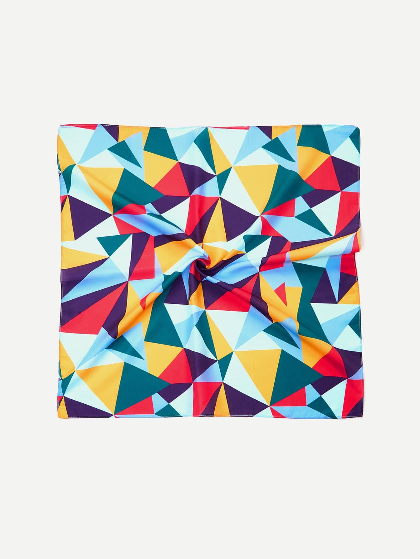 Color Block Geometric Bandana Scarf color block geometric bandana scarf