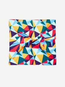 Color Block Geometric Bandana Scarf