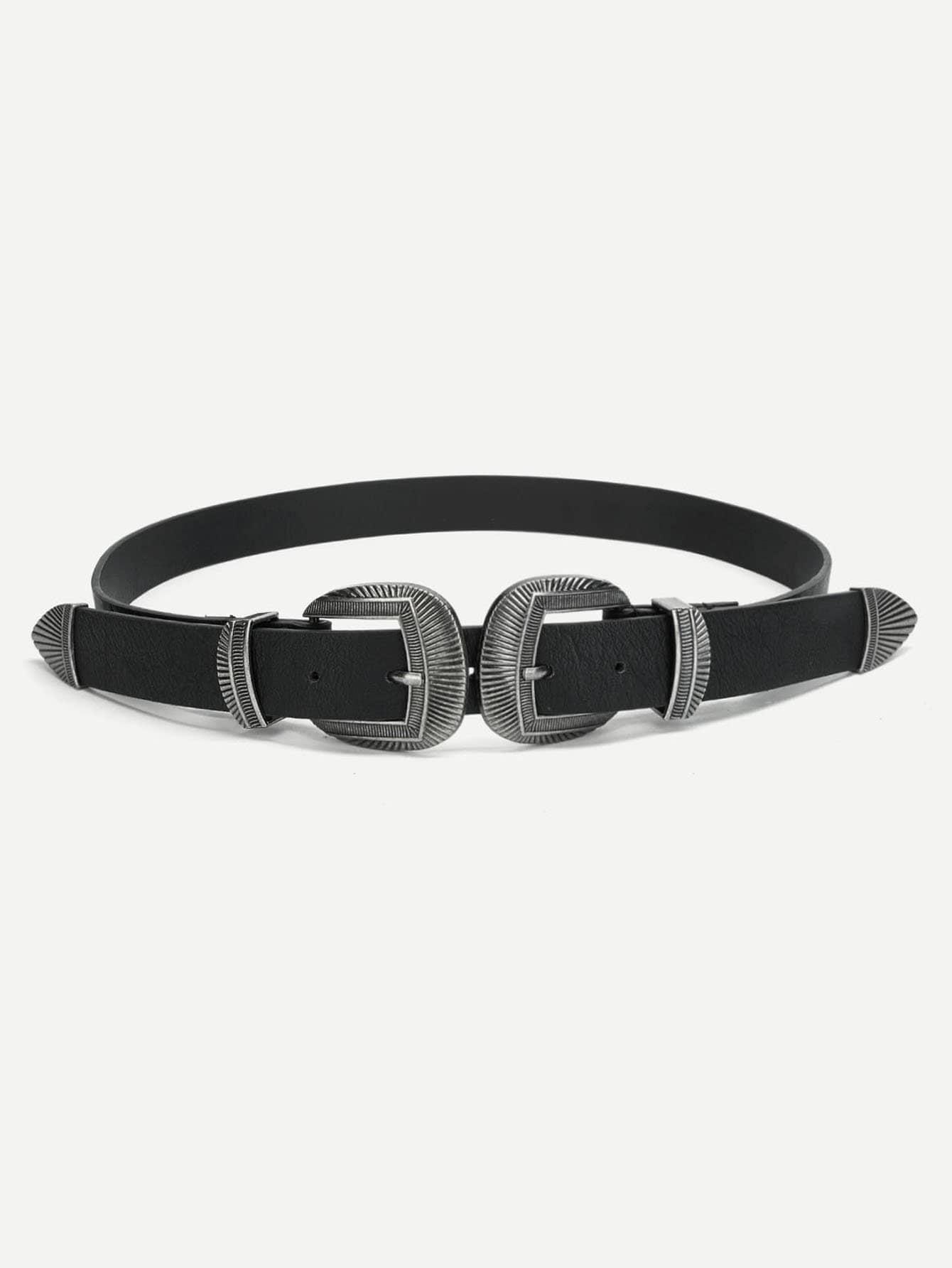 Double Metal Buckle Belt belt cp v2 metal
