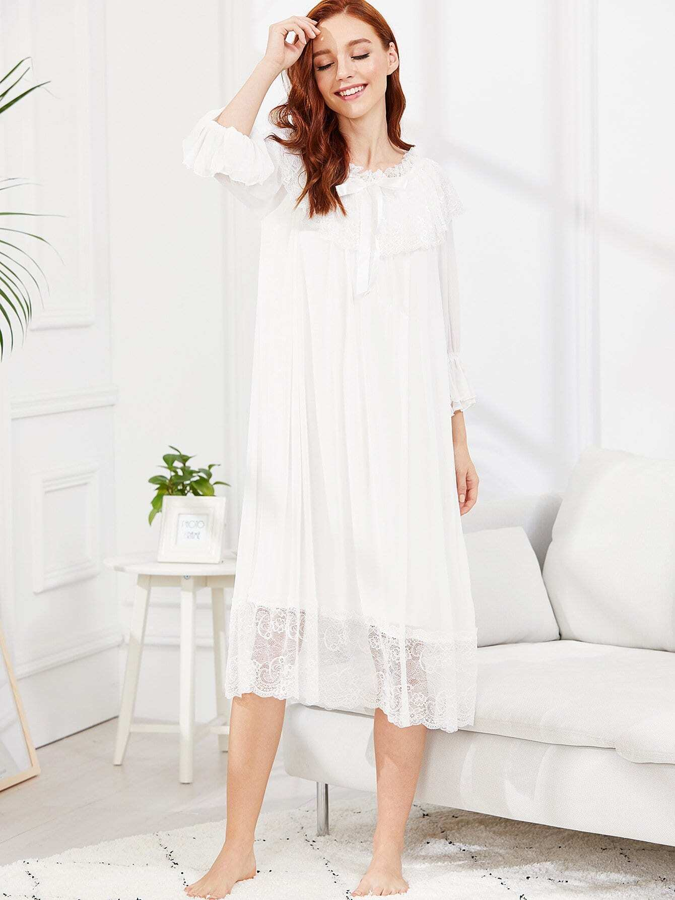 Lace Panel Mesh Overlay Dress white sleeveless mesh and lace overlay details playsuit