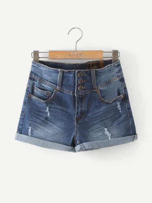Cuffed Denim Shorts zengli mens denim cargo shorts jeans casual vintage blue pockets biker jeans summer knee length denim shorts 40 42 44 46 48