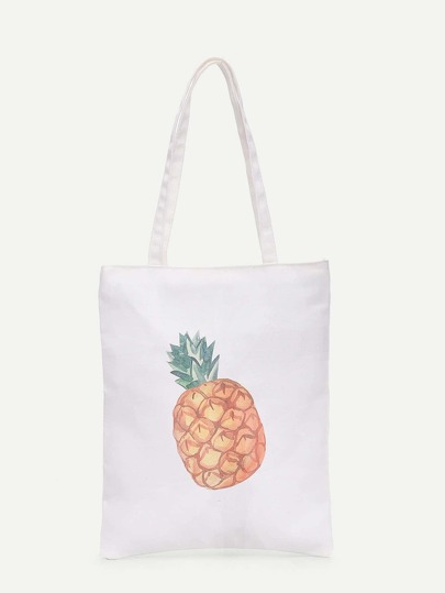 Pineapple Print Shopper Bag