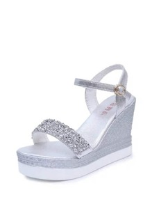 Glitter Two Part Platform Sandals