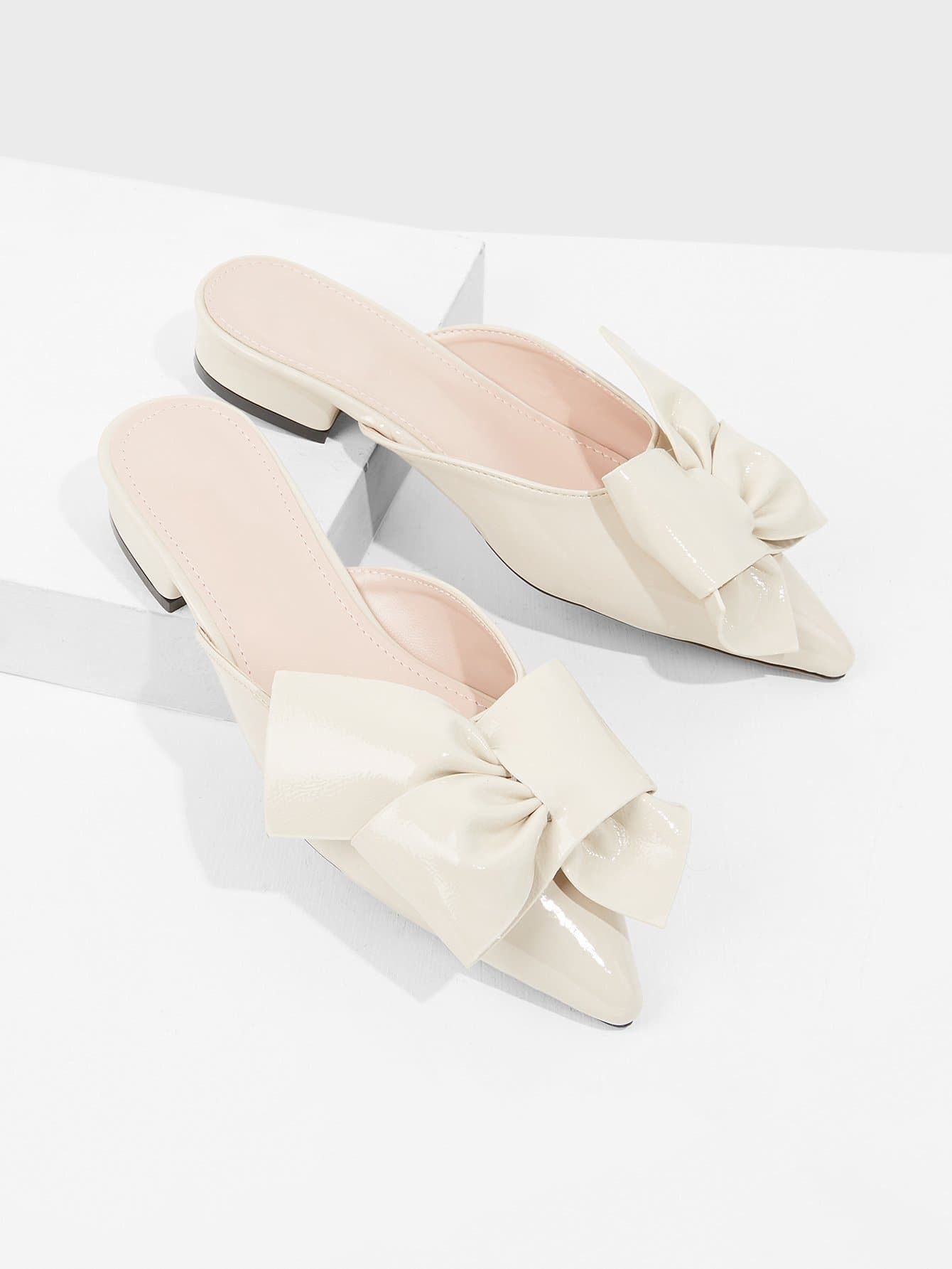 Pointed Toe Bow Detail Flats цена 2017