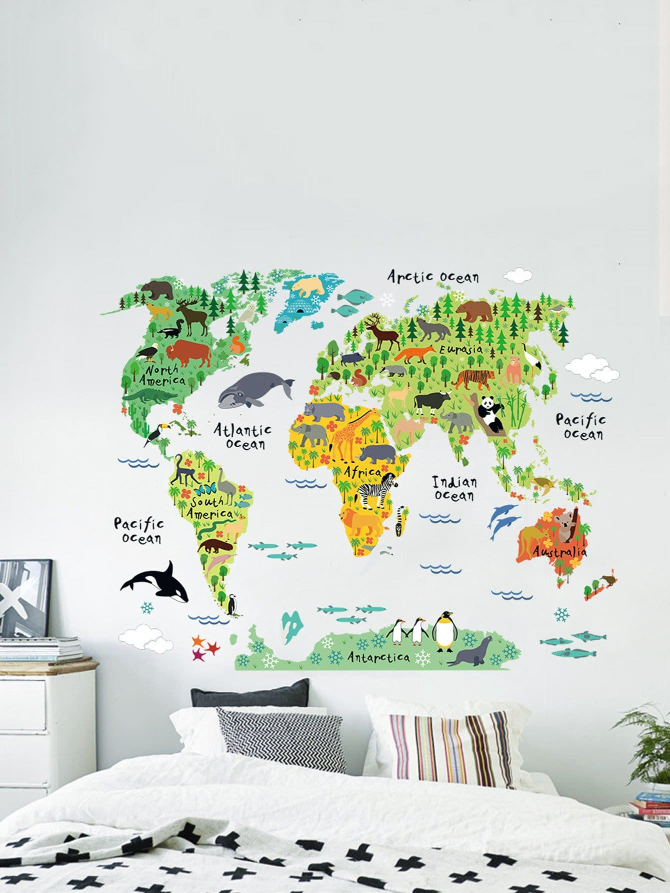 Animal Overlay Wall Sticker 45 pcs pack animal blue whale fish mini paper sticker diary decoration diy scrapbooking label seal sticker stationery