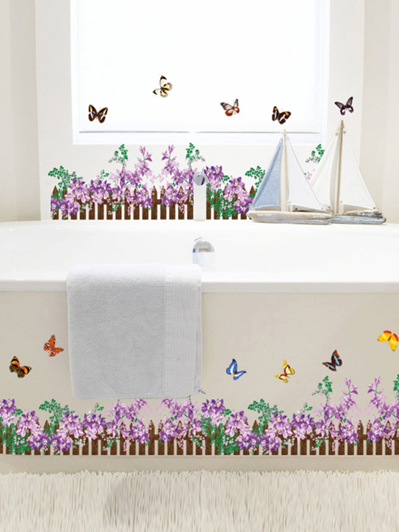 Floral Fence Wall Sticker 2 4 sqaure meters child game fence baby crawling safety fence toddler playpen baby colorful game playpen toy fence learning