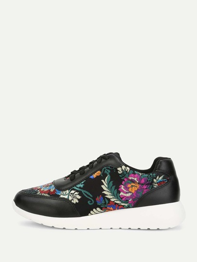 Low Top Embroidered Sneakers