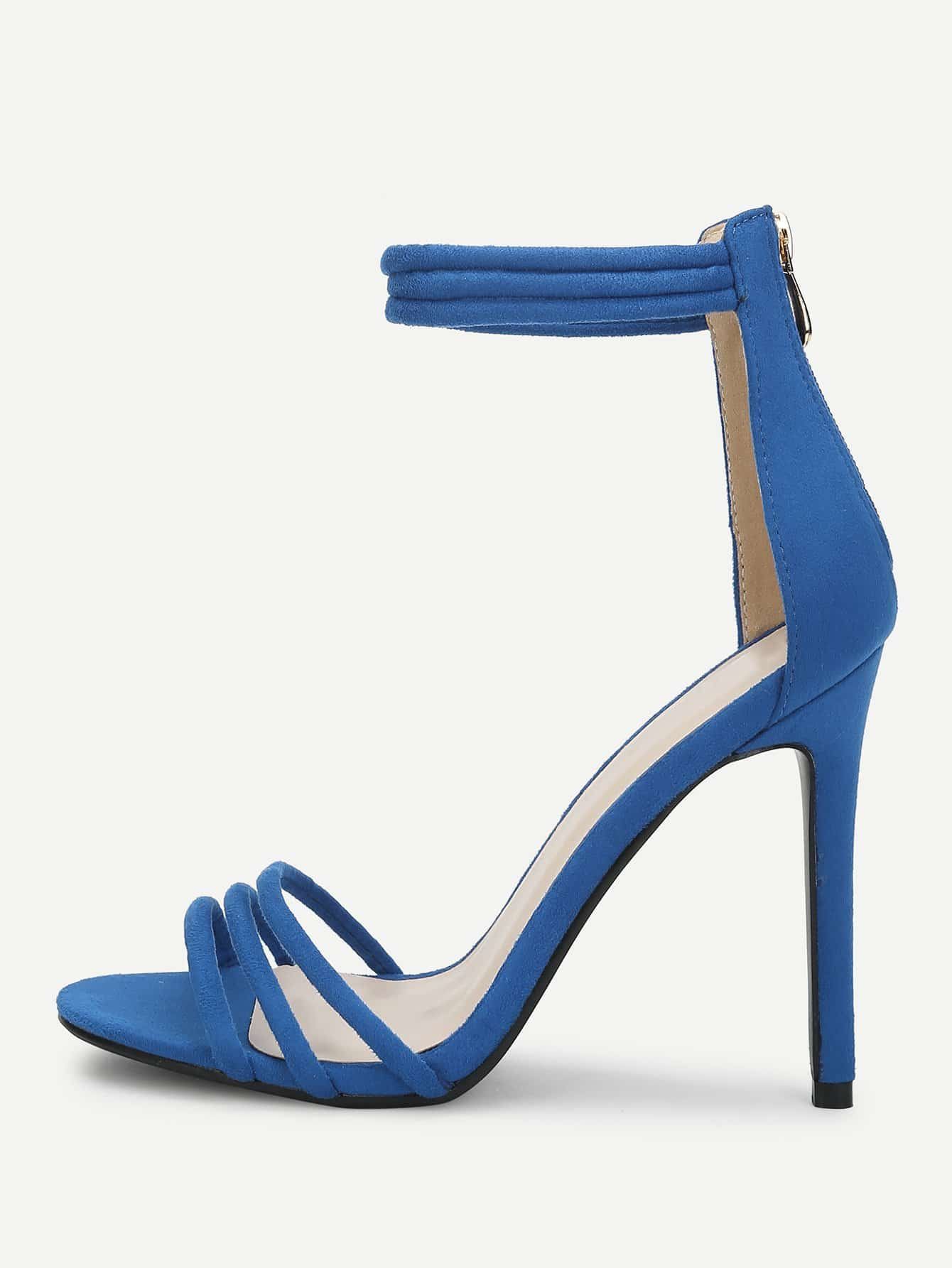 Two Part Ankle Strap Strappy Heels two part stiletto heels