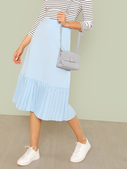 Pleated Hem Skirt