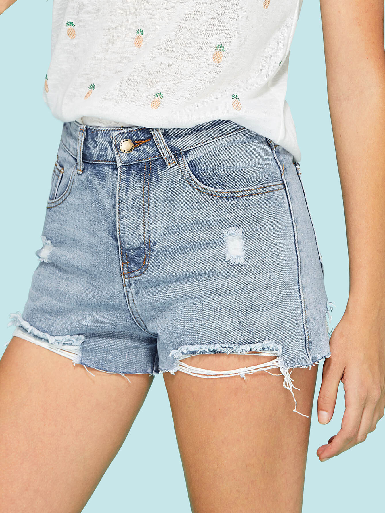 Hole Denim Shorts zengli mens denim cargo shorts jeans casual vintage blue pockets biker jeans summer knee length denim shorts 40 42 44 46 48