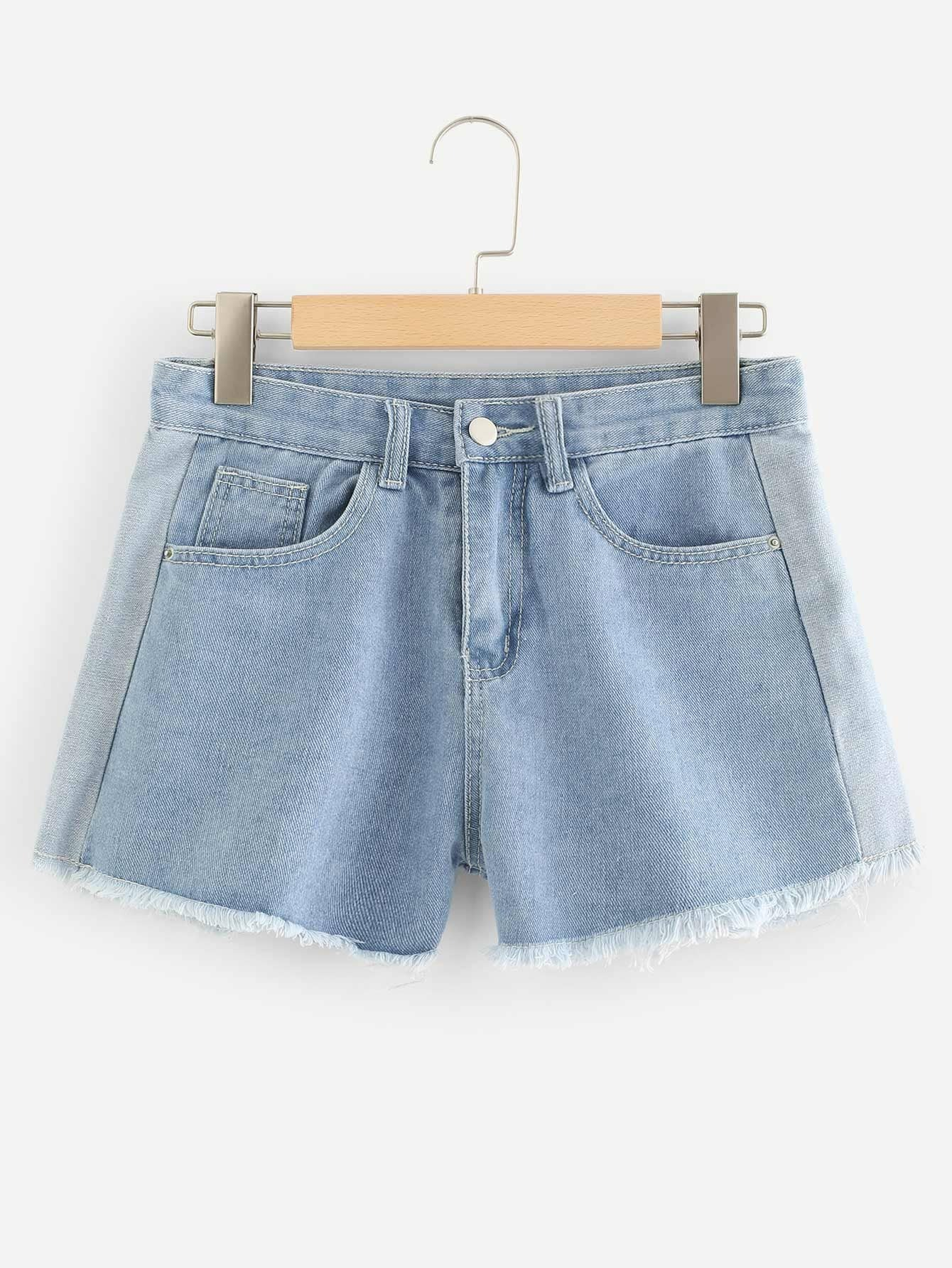 Raw Hem Denim Shorts zengli mens denim cargo shorts jeans casual vintage blue pockets biker jeans summer knee length denim shorts 40 42 44 46 48