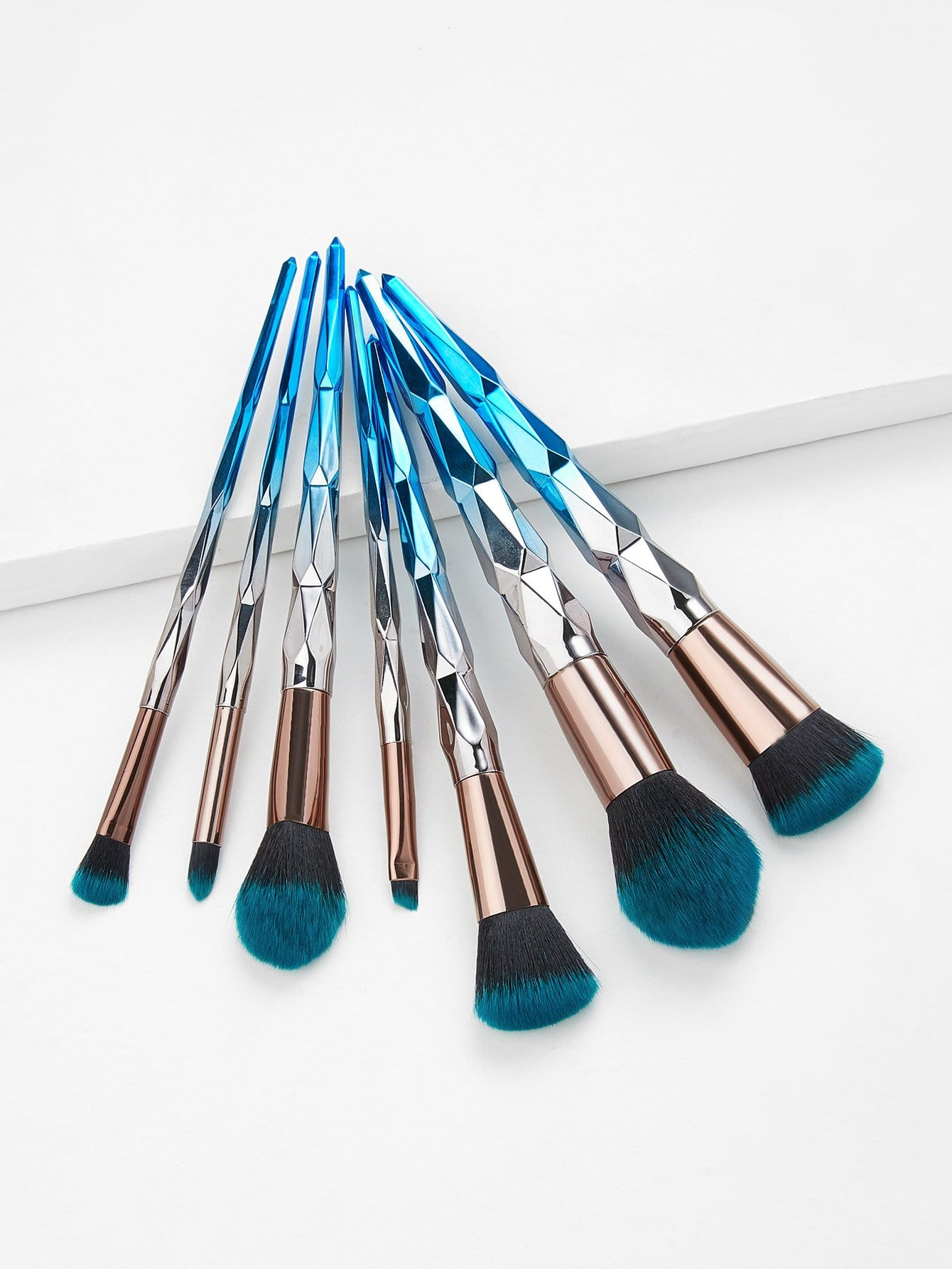 Ombre Handle Makeup Brush 7pcs ombre hook handle makeup brush 7pcs