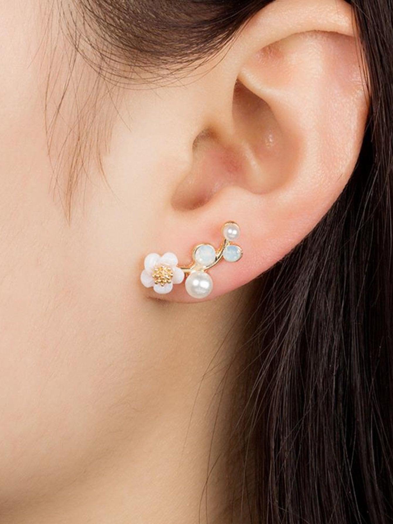 Faux Pearl & Flower...