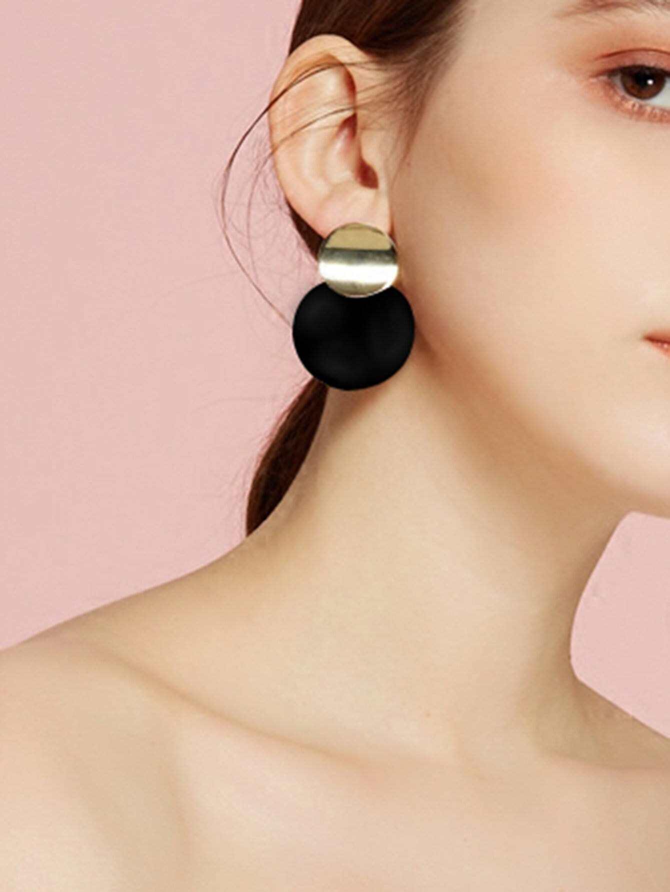 Runde Anweisung Ohrringe