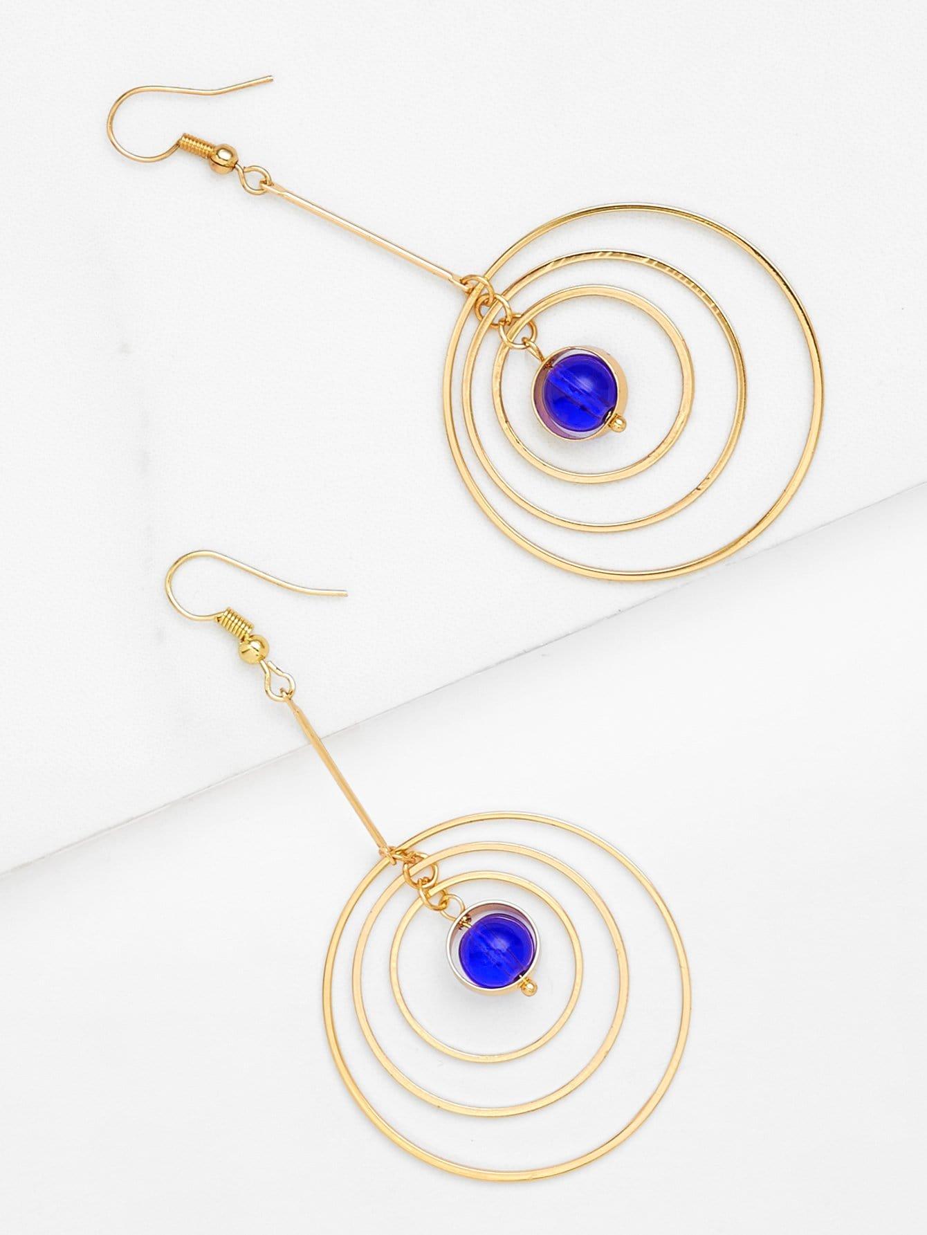 Layered Hoop Drop Earrings layered wrap hoop earrings