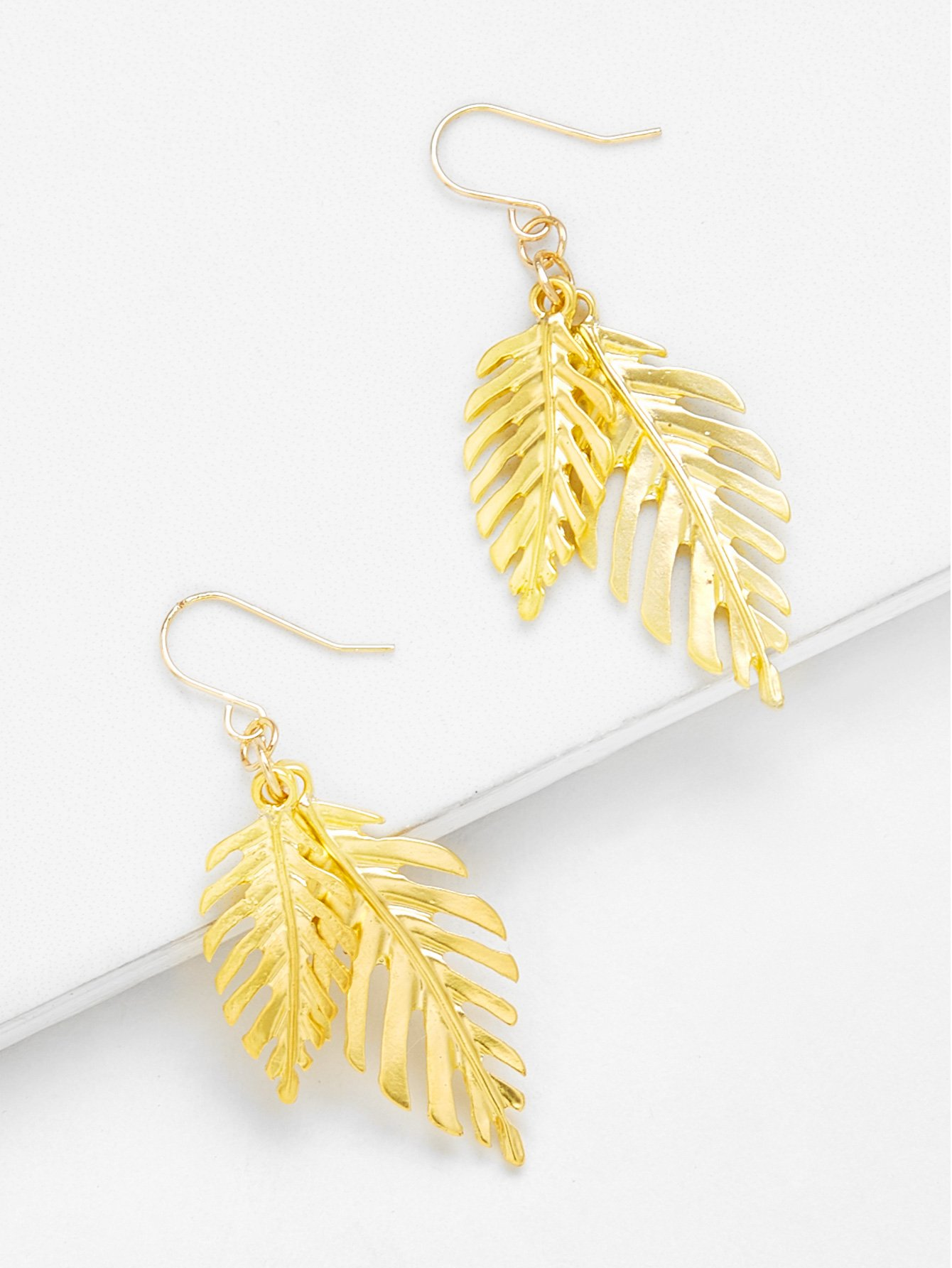Tropical Leaves Drop Earrings цена