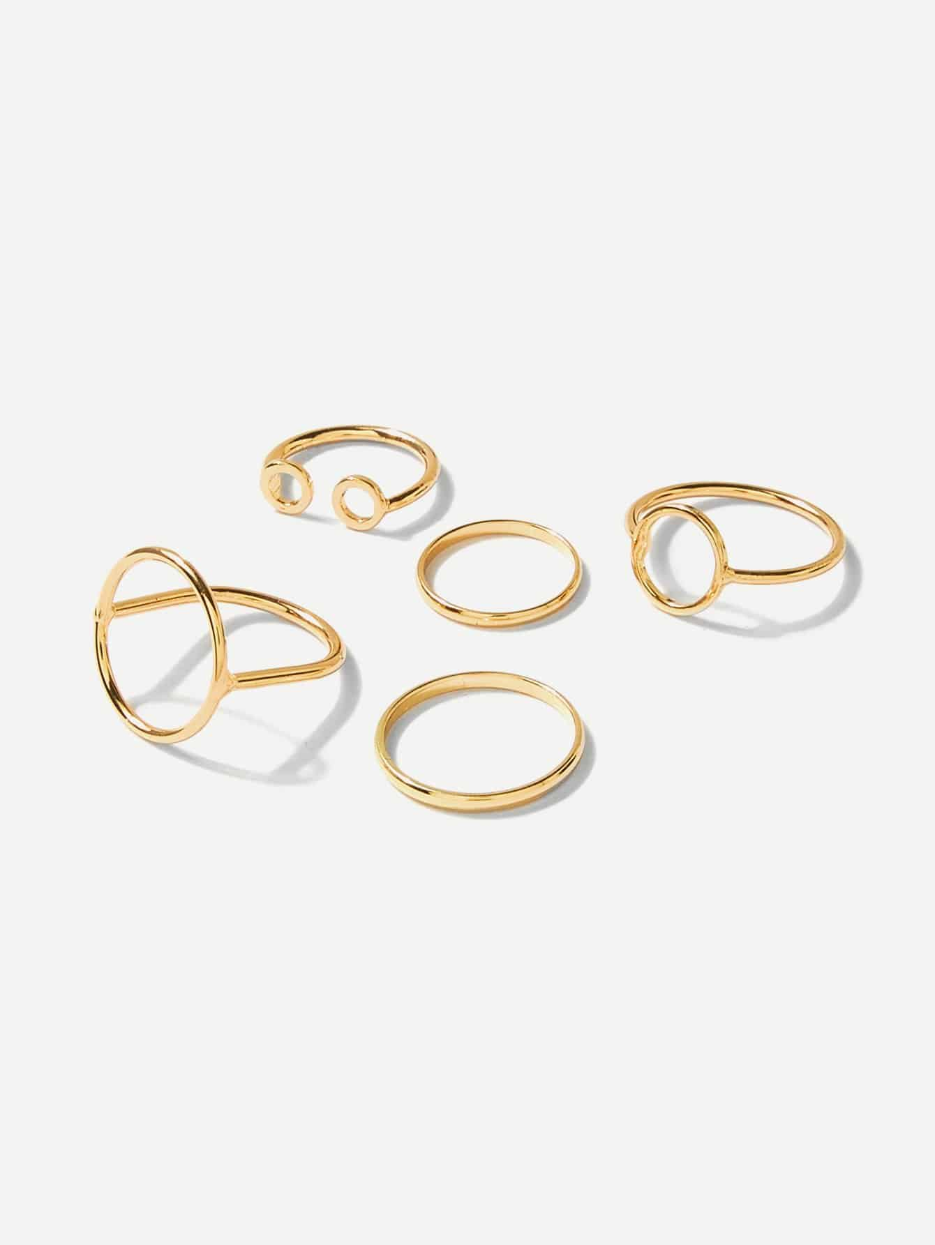 Open Circle Skinny Ring Pack 5pcs open circle skinny ring pack 5pcs