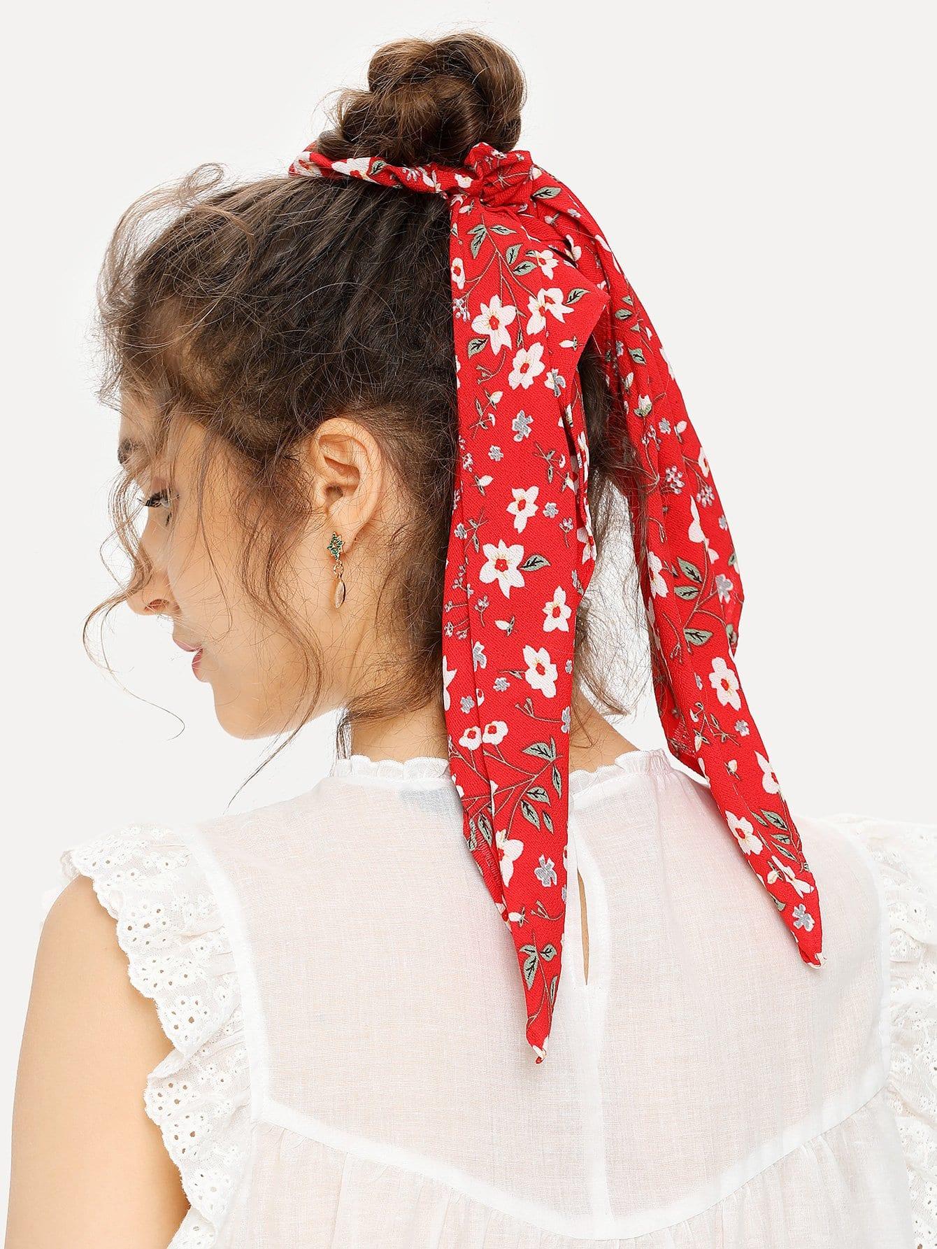 Calico Print Hair Tie hair tie 3pcs