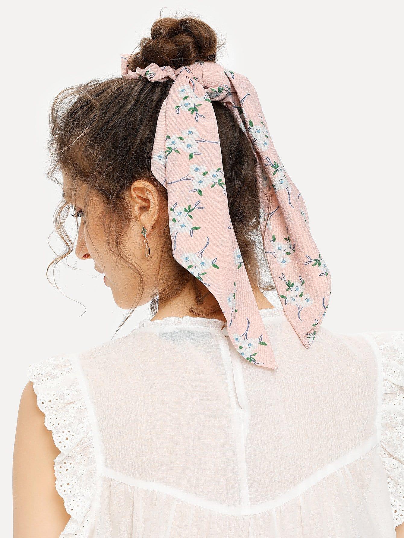 Calico Bow Tie Hair Tie hair tie 3pcs