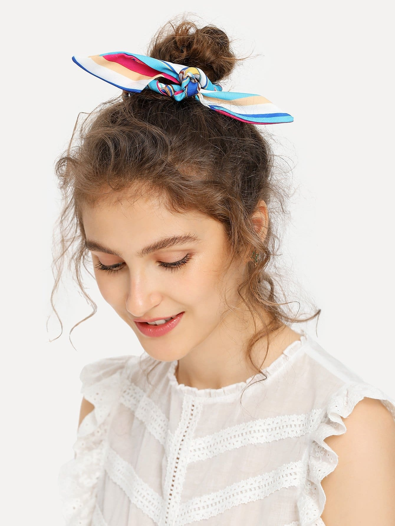 Faux Pearl Detail Headband & Hair Tie & Clips Set 6pc set headband cute elastic hair rubber bands girls hair accessories cartoon hairband little ponys rope tie accessory for kids