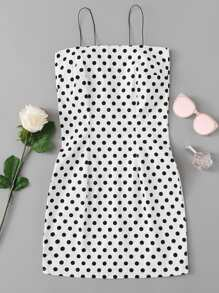 Polka Dot Print Cami Dress