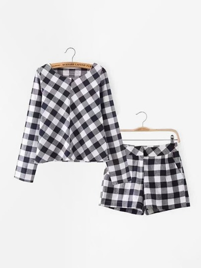 Check Plaid Pullover With Shorts