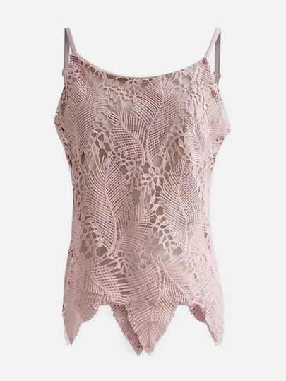 Guipure Lace Overlay Cami Top