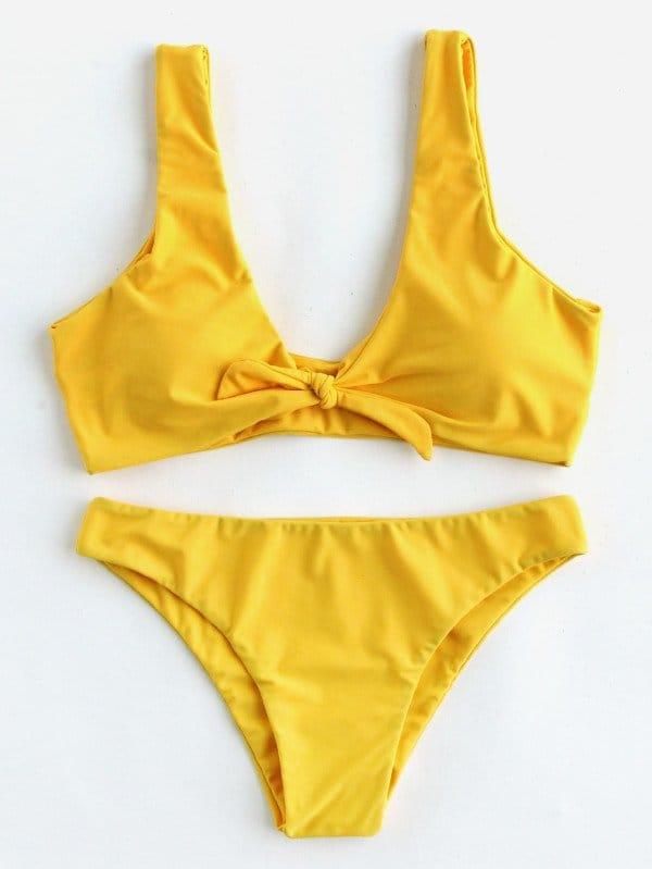 Knot Front Bikini Set knot front fit