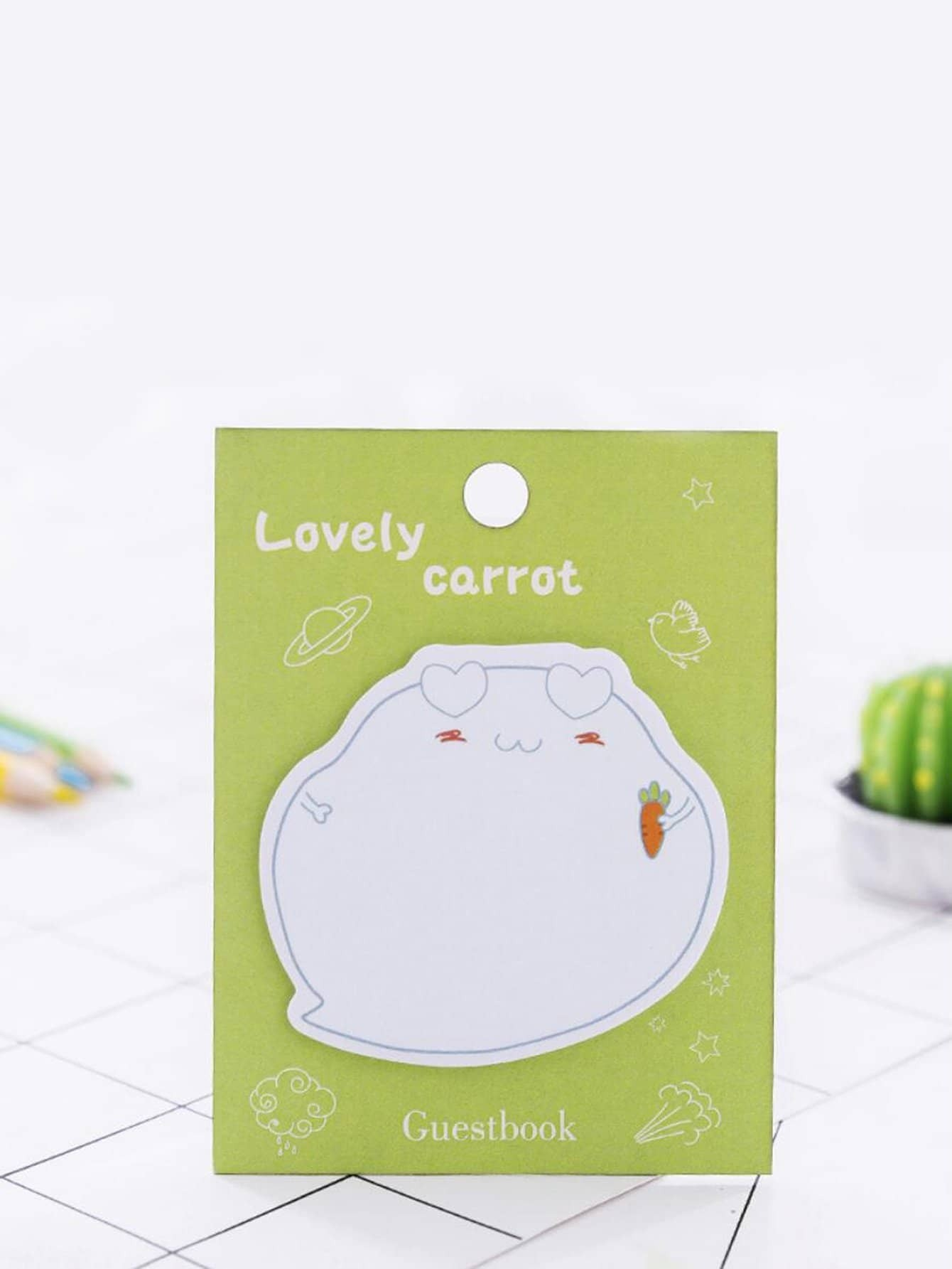 Cartoon Shaped Memo Pad 20pcs unique creative apple shaped memo pad large about 120 page