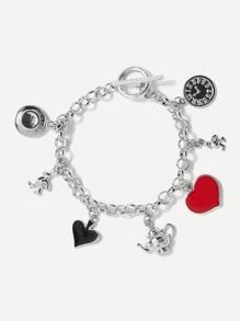 Heart Detail Chain Bracelet