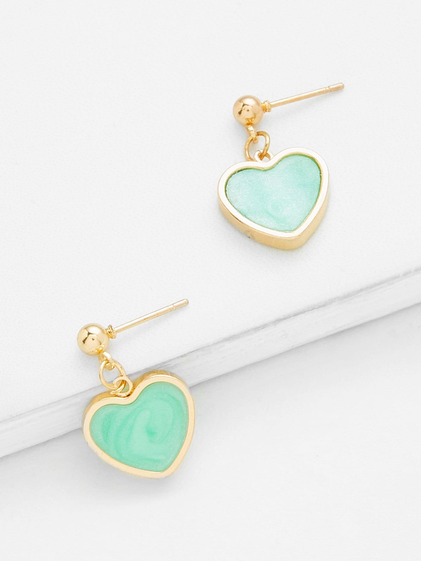 Heart Design Drop Earrings mask design drop earrings
