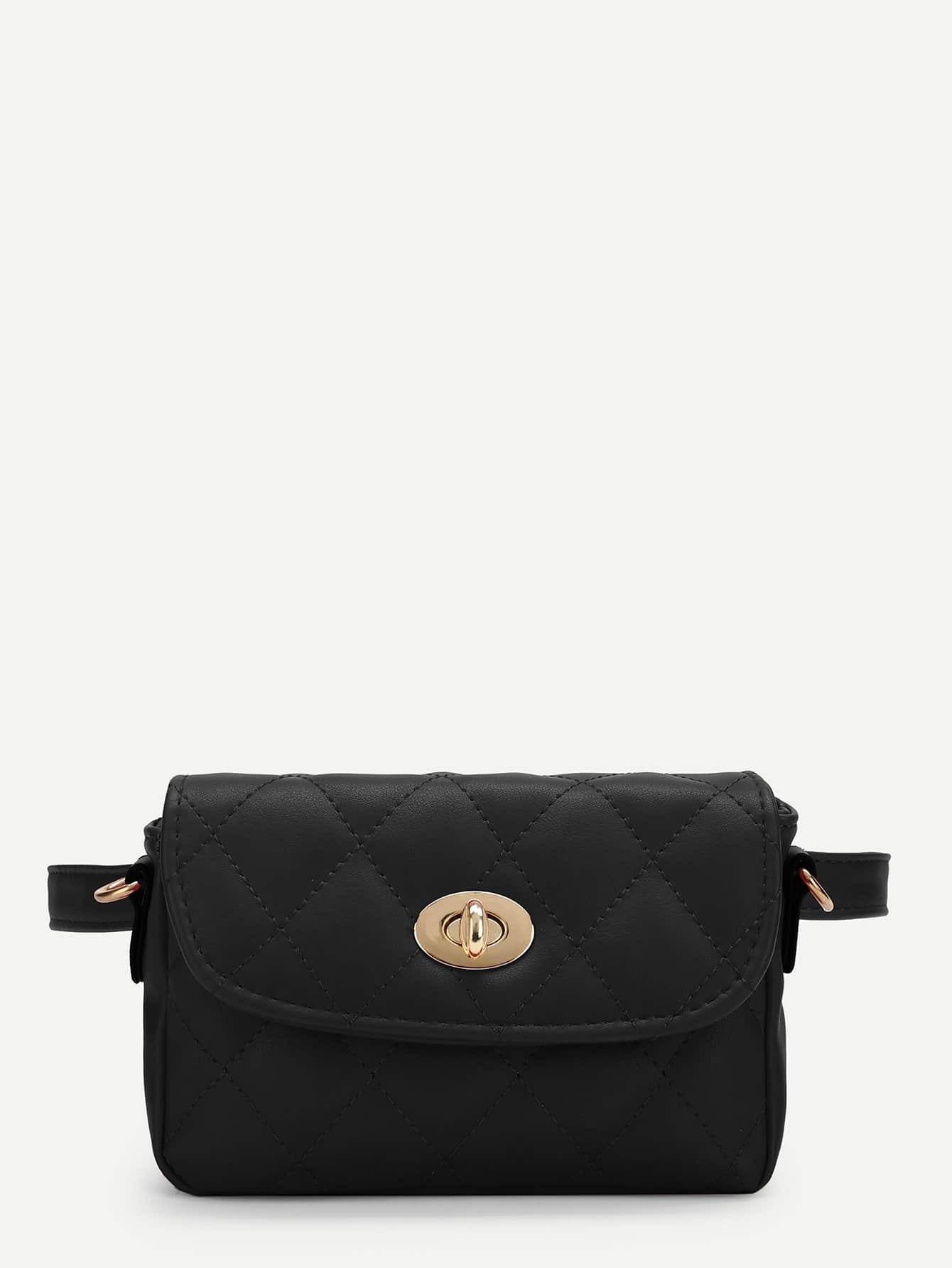Twistlock Quilted Bum Bag