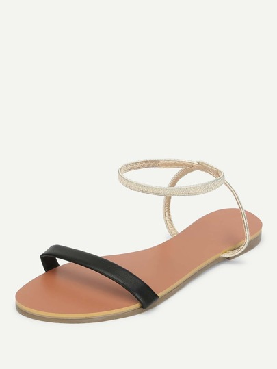 SheIn / Ankle Strap Flat Sandals