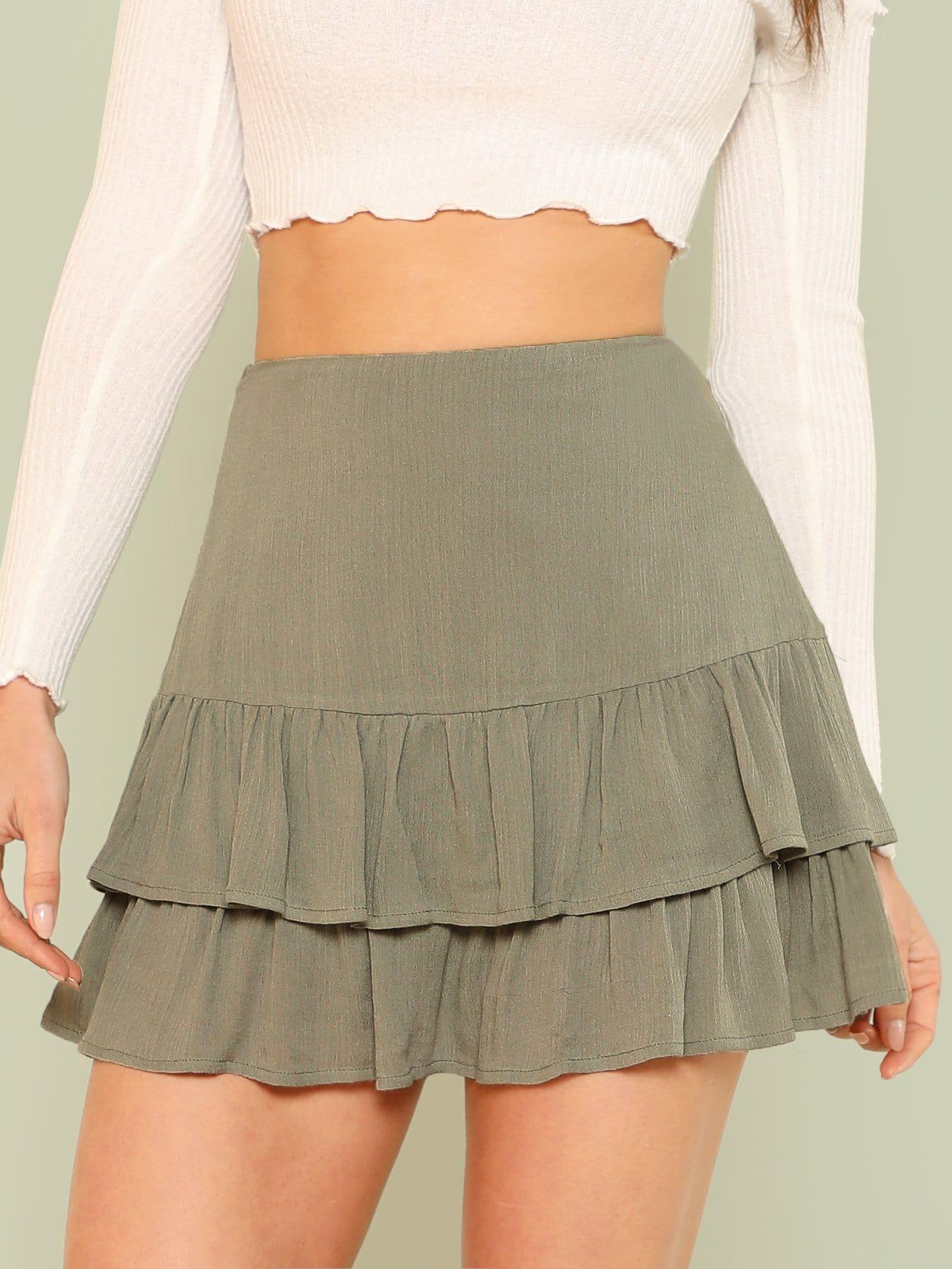 Купить Многослойная юбка с оборками, Gigi Paris, SheIn