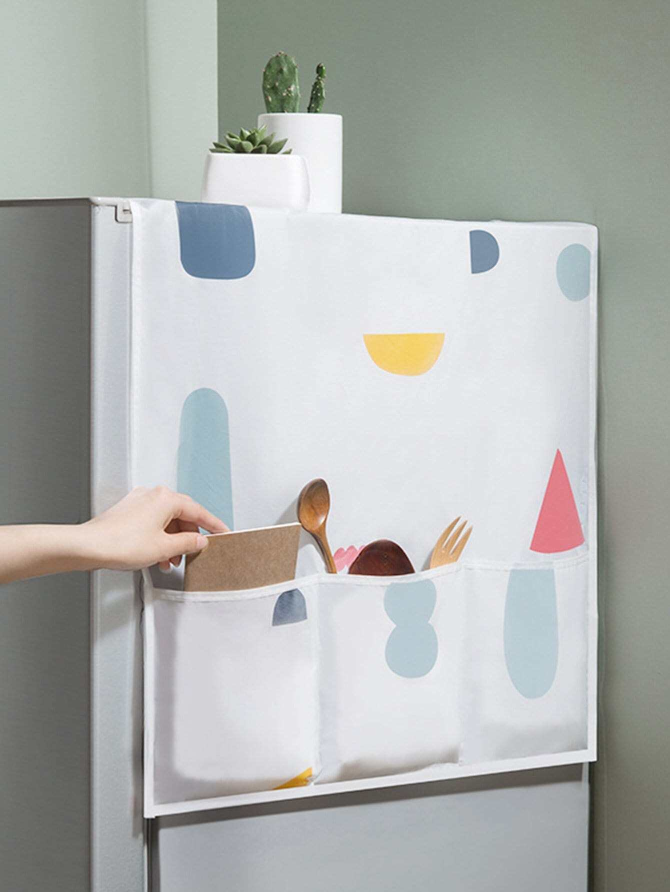 Geometric Pattern Refrigerator Dust Cover star print refrigerator dust cover